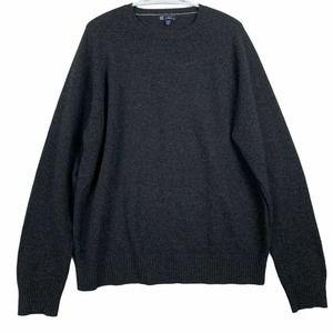 J Crew Lambswool Crew Neck Sweater Mens XL Gray